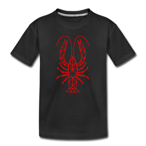 Geometric Crawfish | Kids' Premium T-Shirt - black