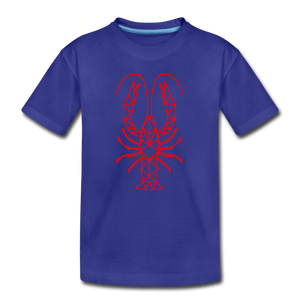 Geometric Crawfish | Kids' Premium T-Shirt - royal blue