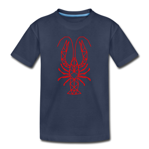 Geometric Crawfish | Kids' Premium T-Shirt - navy