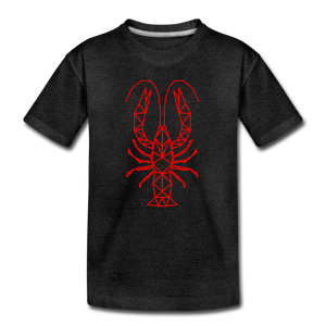 Geometric Crawfish | Kids' Premium T-Shirt - charcoal gray