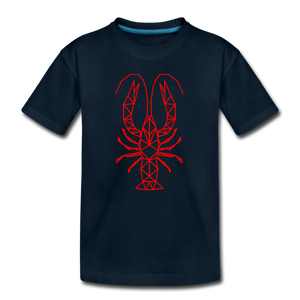Geometric Crawfish | Kids' Premium T-Shirt - deep navy