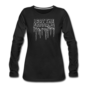 I Got The Frissons | Women's Premium Long Sleeve - black
