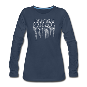I Got The Frissons | Women's Premium Long Sleeve - navy