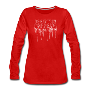 I Got The Frissons | Women's Premium Long Sleeve - red