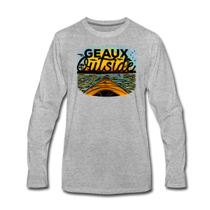 Geaux Outside-ReBOOT Series | Men's Premium Long Sleeve T-Shirt - heather gray