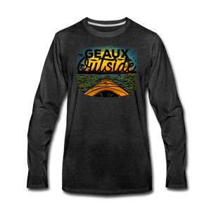 Geaux Outside-ReBOOT Series | Men's Premium Long Sleeve T-Shirt - charcoal gray