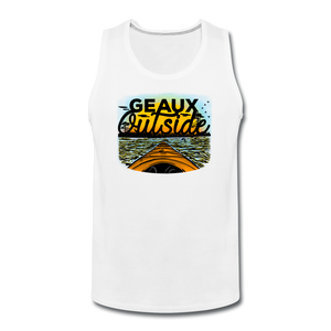 Geaux Outside-ReBOOT Series | Men's Premium Tank - white