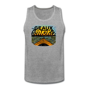 Geaux Outside-ReBOOT Series | Men's Premium Tank - heather gray