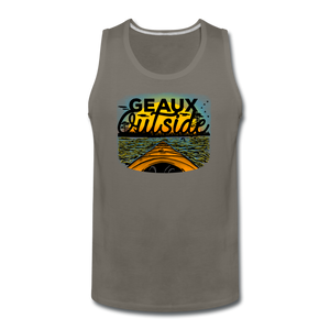 Geaux Outside-ReBOOT Series | Men's Premium Tank - asphalt gray