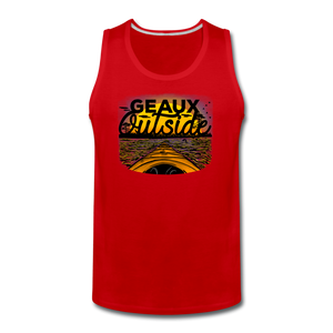 Geaux Outside-ReBOOT Series | Men's Premium Tank - red