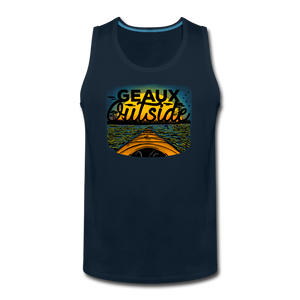 Geaux Outside-ReBOOT Series | Men's Premium Tank - deep navy