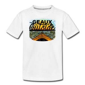 Geaux Outside-ReBOOT Series | Kids' Premium T-Shirt - white