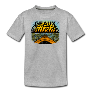 Geaux Outside-ReBOOT Series | Kids' Premium T-Shirt - heather gray