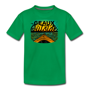 Geaux Outside-ReBOOT Series | Kids' Premium T-Shirt - kelly green