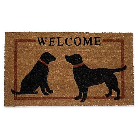 Two Dog Welcome Mat
