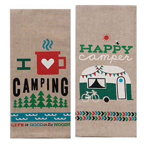Camping Adventures Kitchen Towels