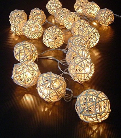 Rattan Ball Fairy Lights