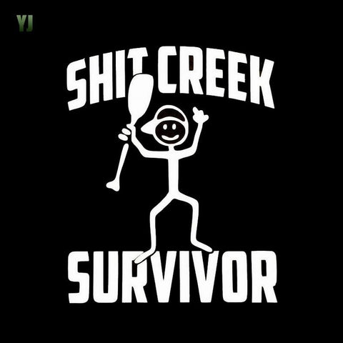 'Shit Creek Survivor' Decal