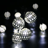 Spherical Metal Light String