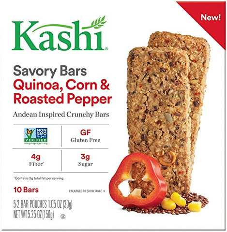 Kashi Quinoa Roasted Corn & Red Pepper Savory Bars