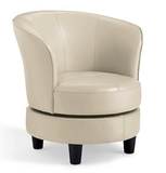 Compact Leather Swivel Chair