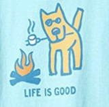 Life is Good 'Marshmallow Roast' Girls Tee