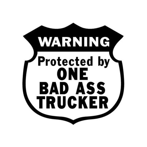 Bad Ass Trucker Decal