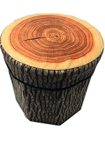 Tree Stump Stool/Storage Bin