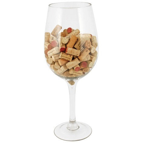 Big Bordeaux Glass Cork Holder by True - ONLINE CELLAR DOOR
