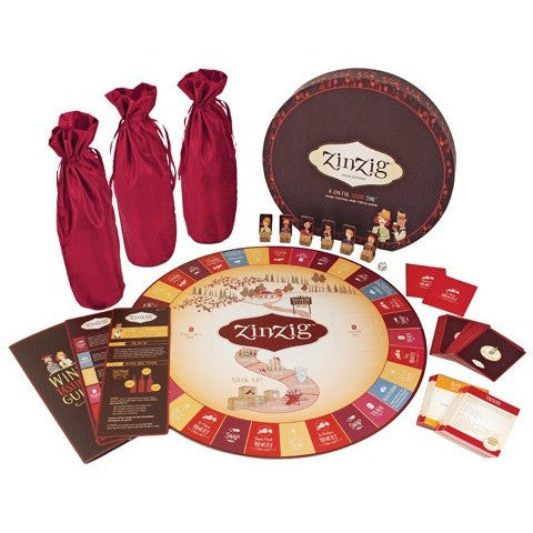 Zinzig Wine Tasting And Trivia Board Game by True - ONLINE CELLAR DOOR