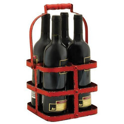 Rustic Farmhouse: Big Red 4 Bottle Carrier - ONLINE CELLAR DOOR