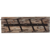 Rustic Farmhouse: Metal & Wood Wine Rack - ONLINE CELLAR DOOR