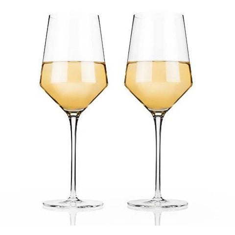 Raye Crystal Chardonnay Glasses (Set of 2) by Viski - ONLINE CELLAR DOOR