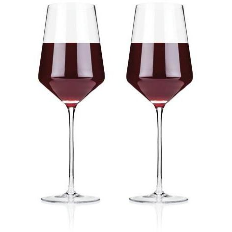Raye Crystal Bordeaux Glasses (Set of 2) by Viski - ONLINE CELLAR DOOR