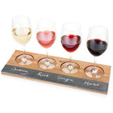 Rustic Farmhouse™ Acacia Wood Wine Flight Board by Twine - ONLINE CELLAR DOOR