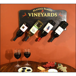 4 Hanging Bottle Signs - Vineyard - ONLINE CELLAR DOOR