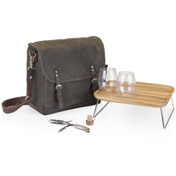 Adventure Wine Tote - Khaki/Brown - ONLINE CELLAR DOOR