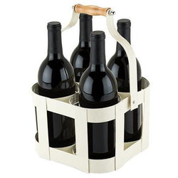 Vintage 4 Bottle Wine Carrier - ONLINE CELLAR DOOR
