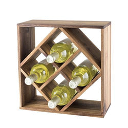 Rustic Farmhouse: Acacia Wood Lattice Wine Rack by Twine - ONLINE CELLAR DOOR