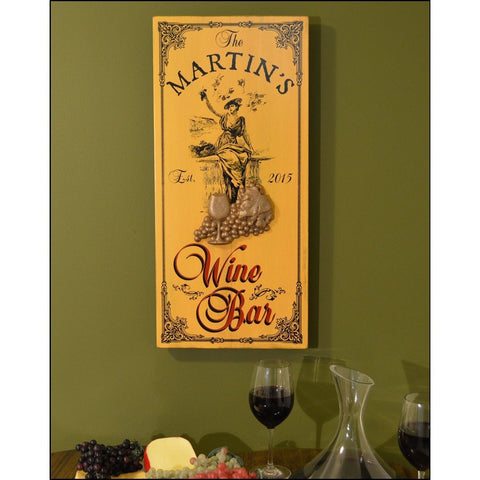 Vintage Plank Signs - Wine Bar Girl - ONLINE CELLAR DOOR