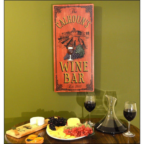 Vintage Plank Signs - Chateau Wine Bar - ONLINE CELLAR DOOR