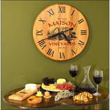 Barrel Head Clock - Maison Vineyard - ONLINE CELLAR DOOR