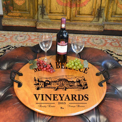 Barrel Head Serving Tray - Maya Bernice - ONLINE CELLAR DOOR