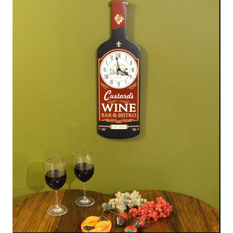 Bottle Shaped Clock - Wine Bar - ONLINE CELLAR DOOR