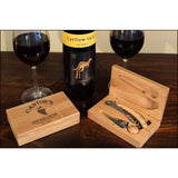 Wine Bar & Bistro Personalized 2 Piece Bamboo Wine Set - ONLINE CELLAR DOOR