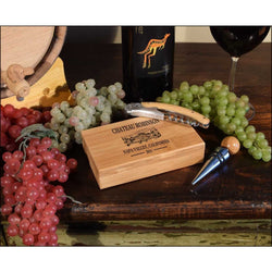Chateau Robinson Personalized 2 Piece Bamboo Wine Set - ONLINE CELLAR DOOR