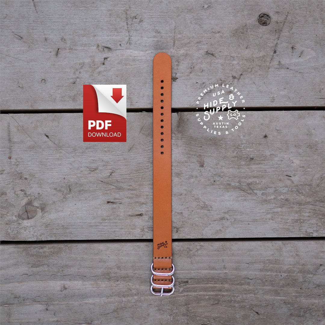 slip though watch strap template 20mm 8 5 x 11 hide supply