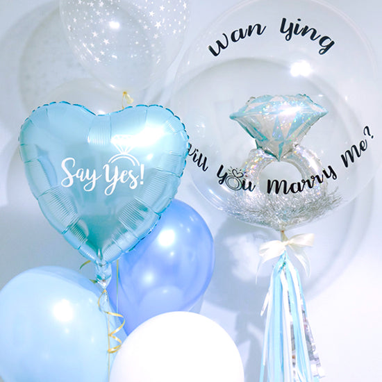 [2 Day Pre-Order] Personalized Bubble Balloon with Mini Ring Foil