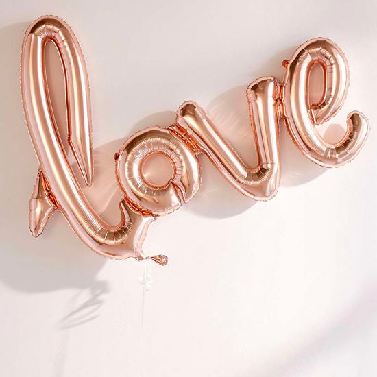 "[2 Day Pre-Order] 20"" Rose Gold Love Balloon"
