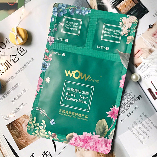 WOWlive Bird's Nest Essence Mask - 5pcs